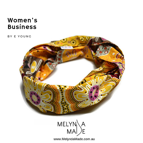 MelyndaMade Handmade Indigenous Ladies Infinity Scarf Women's Business