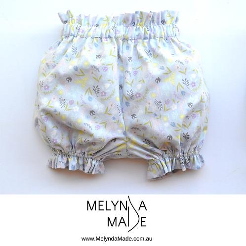 MelyndaMade Handmade Bloomers Mauve Sz 12 mths
