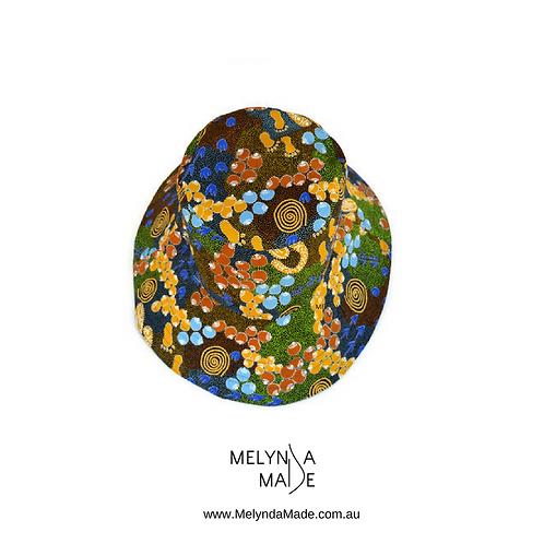 MelyndaMade Handmade Indigenous Reversible Bucket Hat Bush Plum Dreaming