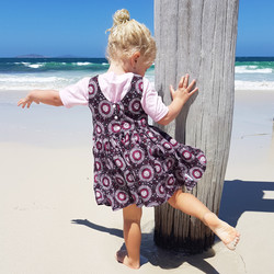 MelyndaMade Handmade Childrens Clothes Indigenous Classic Orchid Smoke layering