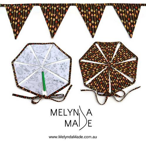 MelyndaMade Handmade Colour Me Bunting - Space & Arrows