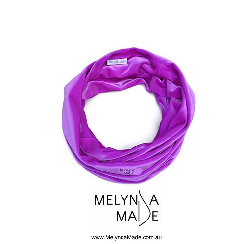 MelyndaMade Handmade Ladies Infinity Scarf Velvet Spandex Hot Magenta
