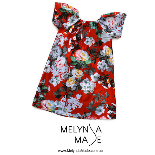 MelyndaMAde Handmade Childrens Clothing seaside dress size 6 Christmas