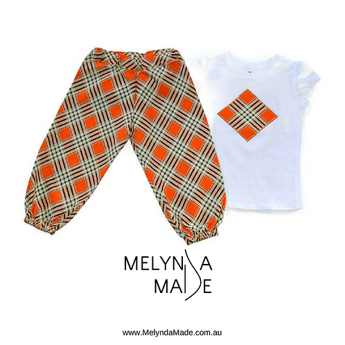 MelyndaMade Handmade Harem Pants & Top Sz 2