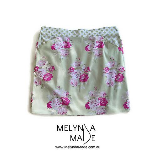 MelyndaMade Handmade Ladies Skirt Slipper Roses