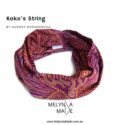 MelyndaMade Handmade Indigenous Ladies Infinity Scarf KoKos String