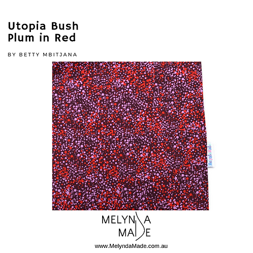 MelyndaMade Handmade Indigenous Print Utopia Bush Plum Red