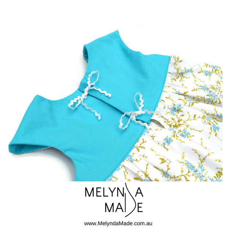 MelyndaMade Handmade Sustainable Fashion Blue Back
