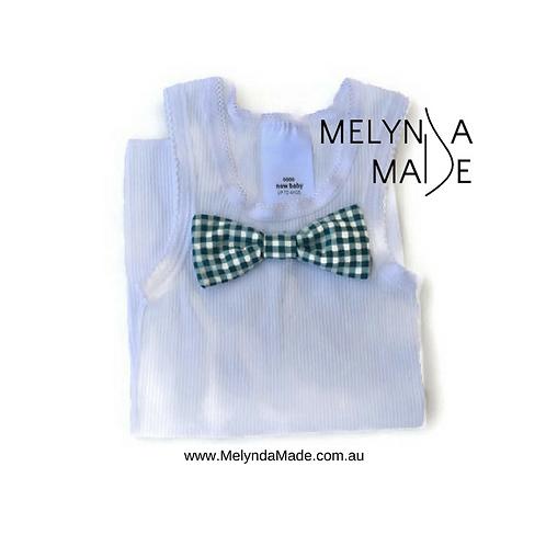 MelyndaMade Handmade Bowtie Singlet - Size 0000