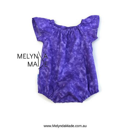 MelyndaMade Handmade Seaside Playsuit Purple