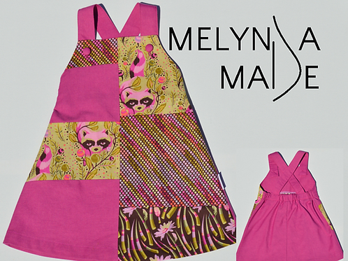 MelyndaMade Handmade Childrens clothes Tula Pink Raccoons