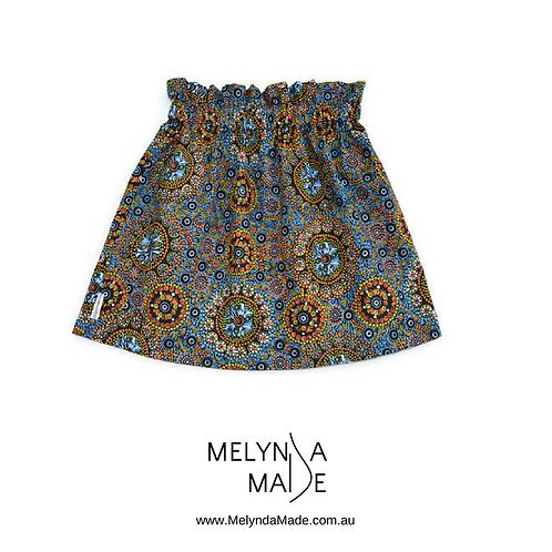 MelyndaMade Handmade Childrens Clothes Indigenous Simple Skirt Wild Desert Flowers