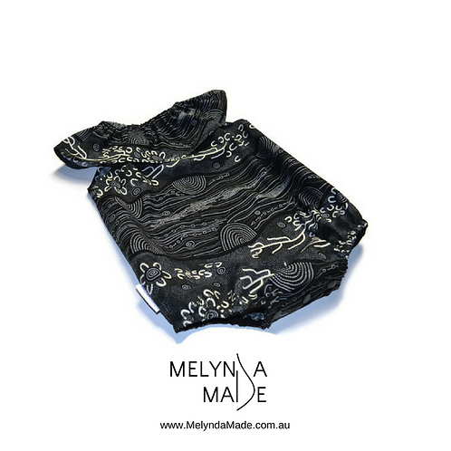 MelyndaMade Handmade Baby Clothes Indigenous Playsuit Sandy Creek