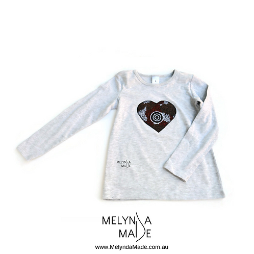 MelyndaMade Handmade Indigenous Childrens Clothes Amicitia Heart