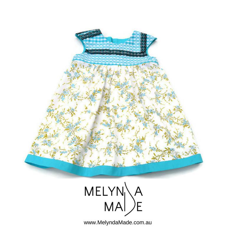 MelyndaMade Handmade Sustainable Fashion Blue Playgroup Dress