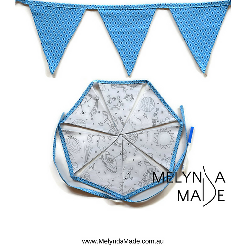 MelyndaMade Handmade Colour Me Bunting - Space