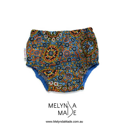 MelyndaMade Handmade Baby Clothes Indigenous Nappy Cover Wild Desert Flowers