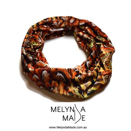 MelyndaMade Handmade Ladies Infinity Scarf Velvet Autumn Plume OSFA