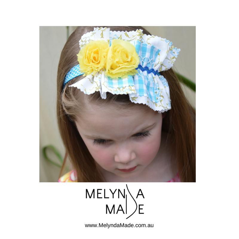 MelyndaMade Handmade Sustainable Fashion Blue Headband