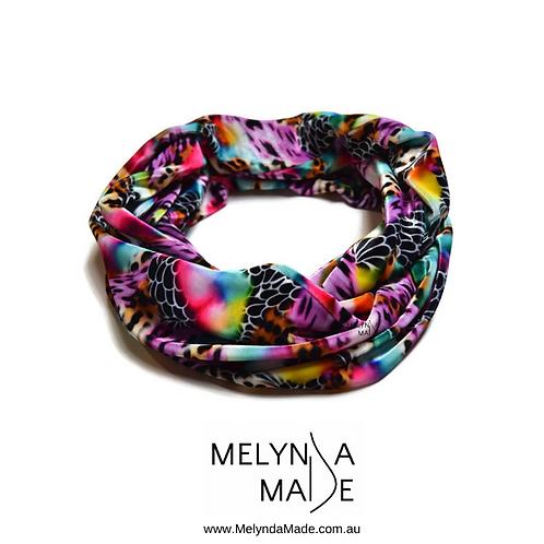 MelyndaMade Handmade Ladies Infinity Scarf Velvet Leopard Blossom OSFA