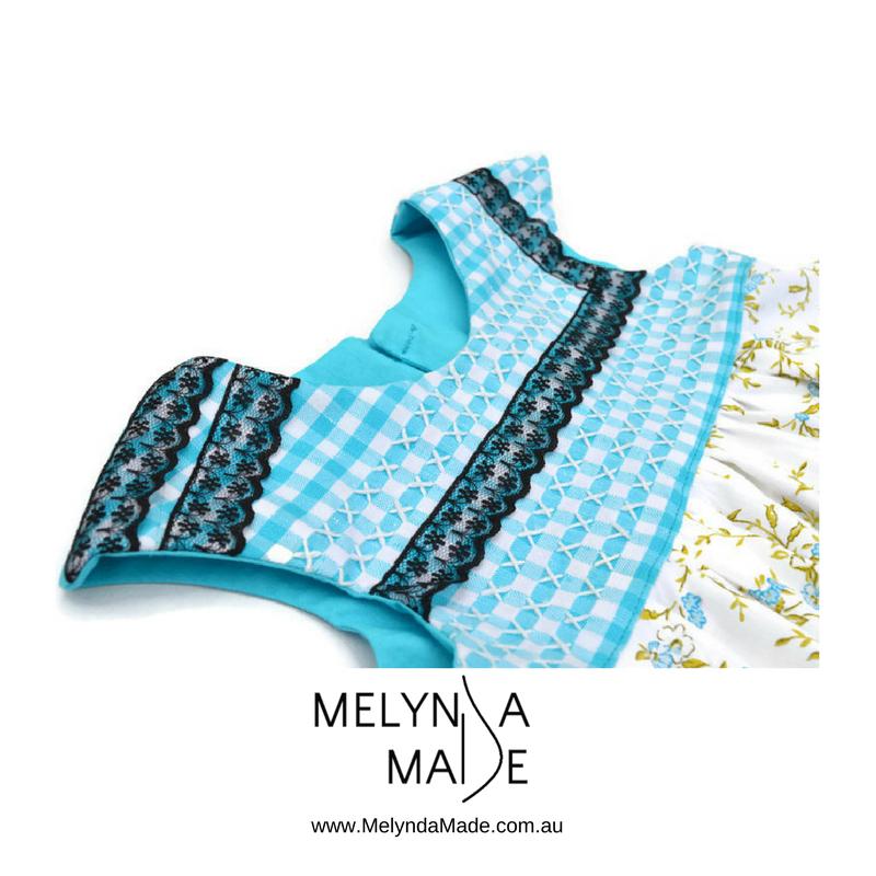 MelyndaMade Handmade Sustainable Fashion Blue Bodice