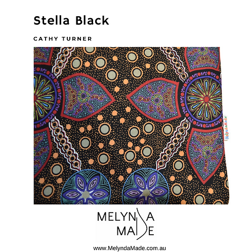 MelyndaMade Handmade Indigenous Ladies Clothes Infinity Scarf Stella Black