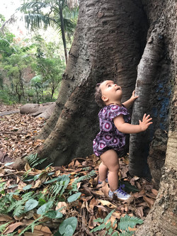 MelyndaMade Handmade Baby clothes Indigenous Seaside Playsuit Orchid Smoke Tree