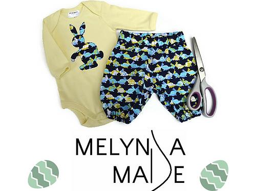 MelyndaMade Handmade Baby Clothes Harem Pants sz 0000