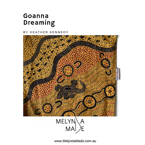 MelyndaMade Handmade Indigenous Ladies Infinity Scarf Goanna Dreaming