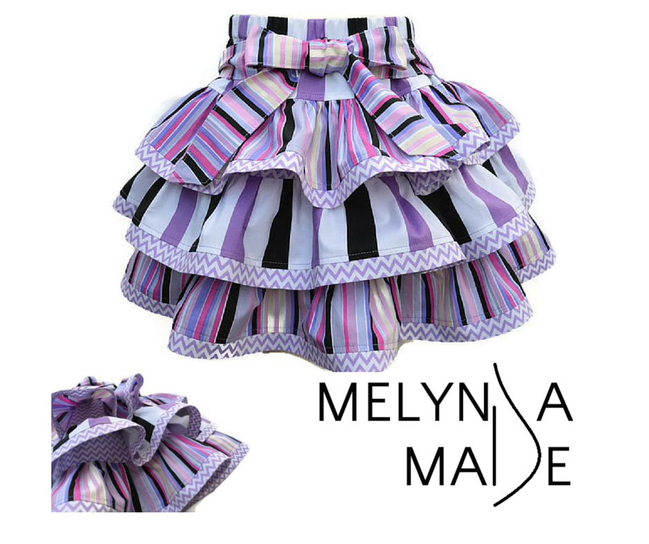 MelyndaMade Handmade Baby Clothes Lollipop Twist and Swirl Skirt