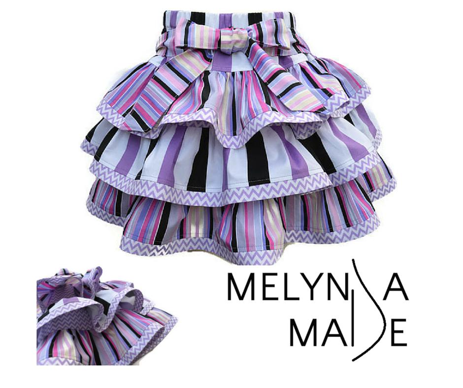 MelyndaMade Handmade Baby Clothes Lollipop Twist and Swirl Skirt