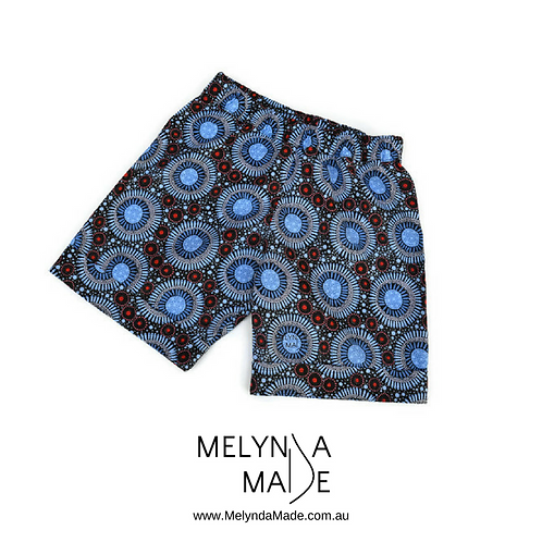 MelyndaMade Handmade Childrens Clothes Indigenous Cuffed Shorts WFBB