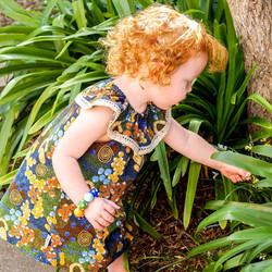 MelyndaMade Handmade Childrens  Clothes Indigenous Seaside Dress Bush Plum Dreaming P