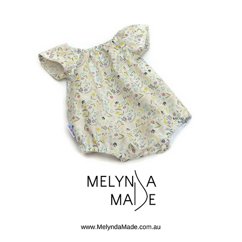 MelyndaMade Handmade Baby Clothes Playsuit