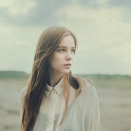 Girl Looking into Distance