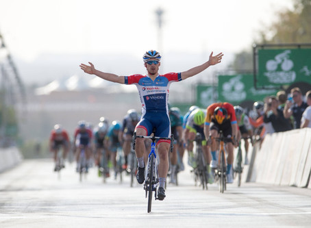 Bonifazio powered away to win the second stage of the Saudi Tour