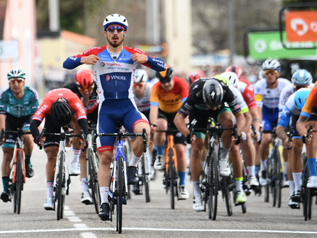 Tratnik allmost in the Paris-Nice, Bonifazio won with a clear cap, Šiškevičius 18th