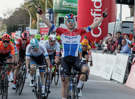 Jakobsen won the 1st stage in Algarve, Laas 13th