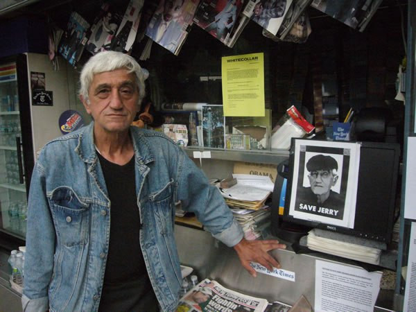 Jerry Delakas has operated the Astor Place newsstand for 27 years.