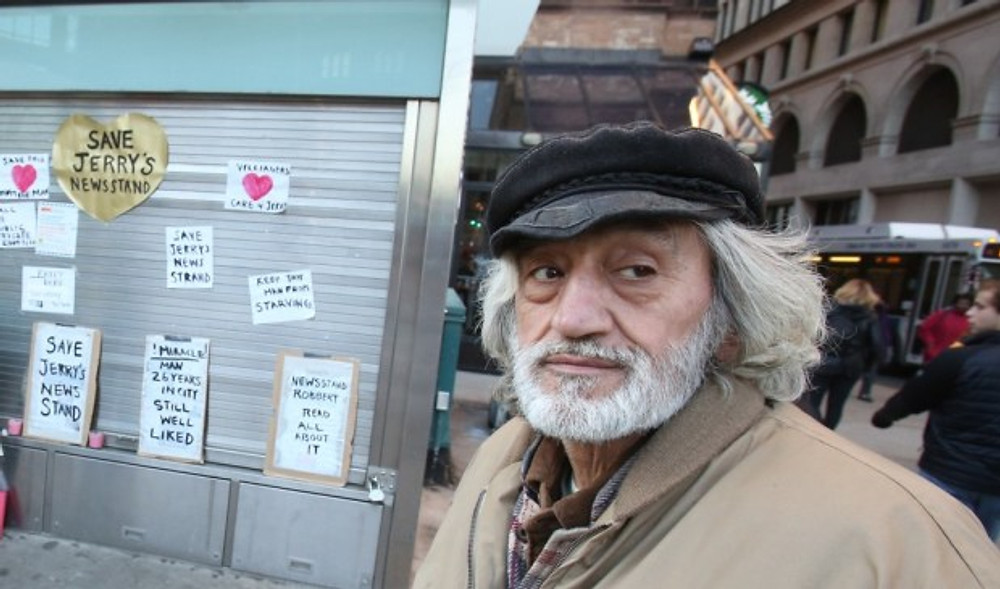 Jerry Delakas has operated the newsstand at Astor Place and Fourth Ave. for 27 years.                             File photo by Jefferson Siegel