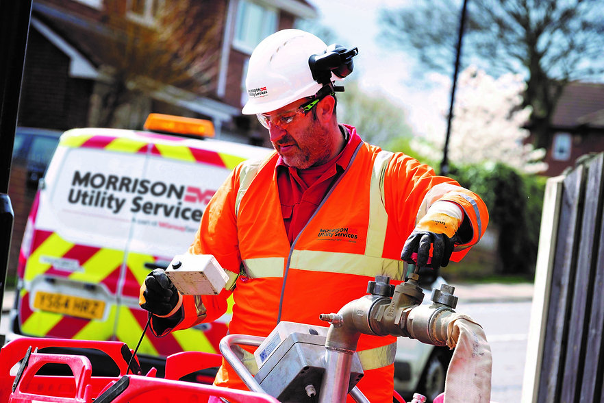 Morrison Utility Services Man working