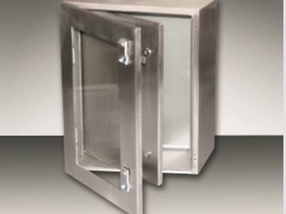 Stainless Steel Enclosure w Glass Door