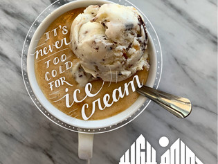 It's never too cold for ice cream...