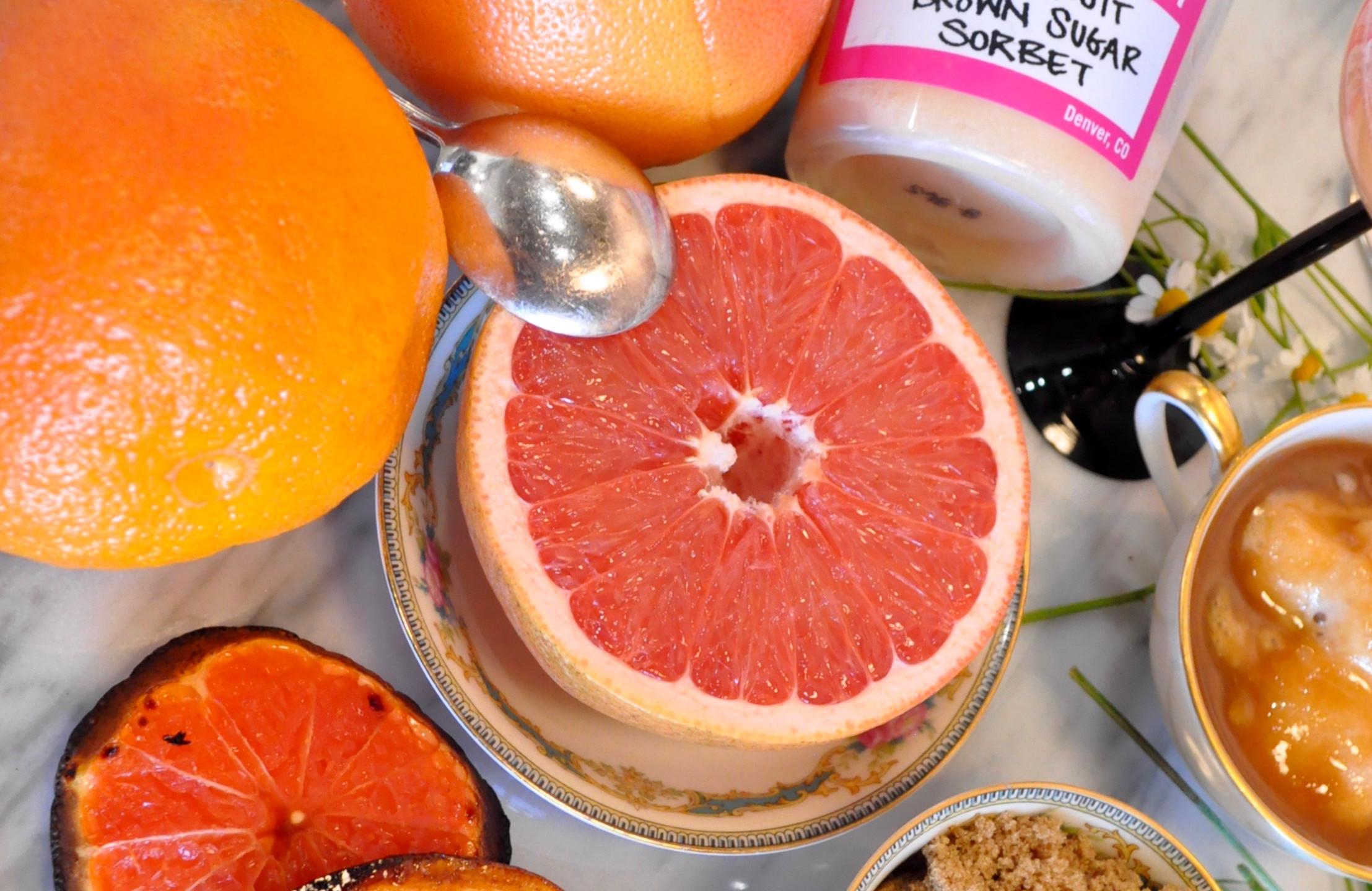 Grapefruit Brown Sugar Sorbet