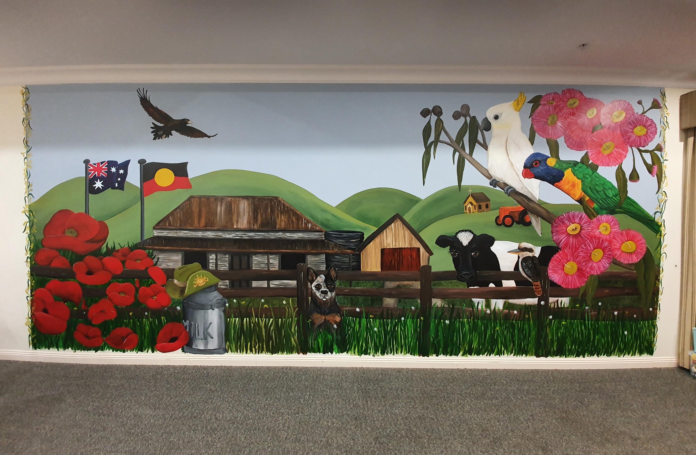 Amberlea Aged care mural