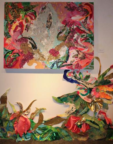Sheer Fantasy and wall installation
