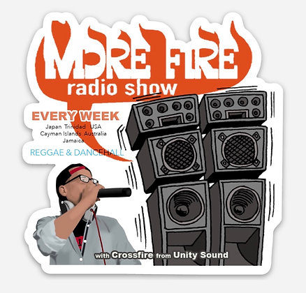 3 x 3 More Fire Show Decal