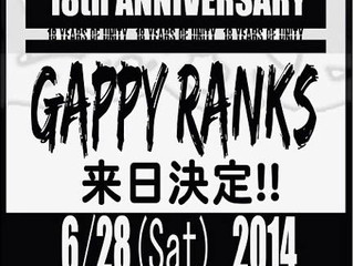 Gappy Ranks is coming back to Japan!!