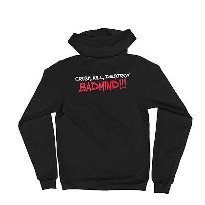 Crush Kill Destroy Badmind Zip Hoodie Sweater