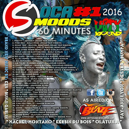 Soca Mood 1 (Soca) CD $5.99 / DL $2.99